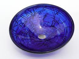 blue glass vessel sink cobalt blue glass vessel sink sink ideas