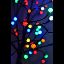 6 ft twig tree with black trunk and 156 led color changing