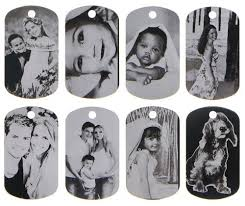laser engraved dog tags made laser etched black tone aluminum dog tag picture pendant
