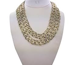 short chain necklace images Rob 39 stees cz stone cuban link choker chain set 18 jpg