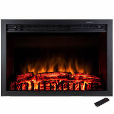 prolectrix bef 14739 wall mount electric fireplace heater black