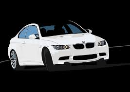 custom white bmw custom illustration work bmw m3 e92 on behance