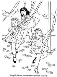 may is coming celebrate with this may day coloring page kid
