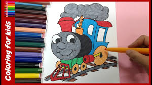 train coloring book how to color train coloring book for kids