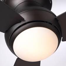 modern flush mount ceiling fan bronze emerson