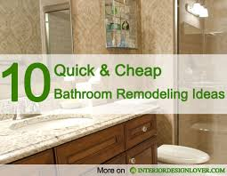 bathroom remodel ideas on a budget 10 and cheap bathroom remodeling ideas interior design lover