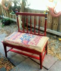 what do you get when you cross a vintage crib end and chair