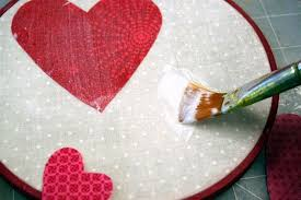 Fabric Heart Decorations Valentine Decorations Embroidery Hoop Wall Hangings Mod Podge Rocks