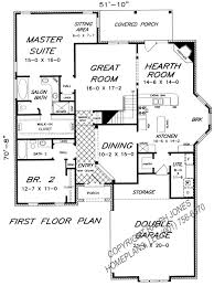 Floor Plan For Master Bedroom Suite House Plan W3859 Detail From Drummondhouseplanscom Double Master