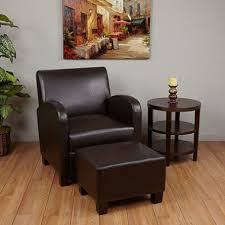 black leather club chair and ottoman espresso faux leather club chair with ottoman sam s awesome chairs 6