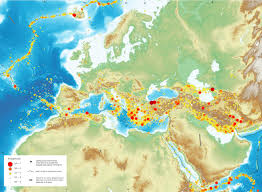 earthquake hazard map seismic hazard map of europe and middle east 2598x1908 mapporn