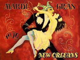 vintage mardi gras mardi gras carnival new orleans louisiana dancers vintage poster