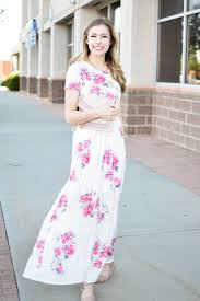 ivory floral maxi dress my sister u0027s closet boutique