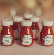 unique wedding favor ideas lovable wedding ideas ketchup bottles wedding favours
