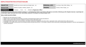 registration officer cover letter u0026 resume