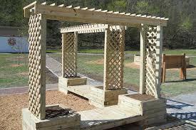 Build A Rose Trellis How To Build A Trellis Planter Bench Kaboom