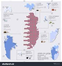 Doha Map Dot Flag Map State Qatar Infographic Stock Vector 234497905