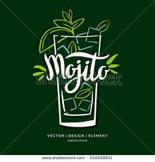 modern hand drawn lettering label alcohol stock vector 534958651