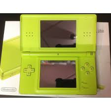 console nintendo ds lite nintendo ds lite handheld system lime green pre owned