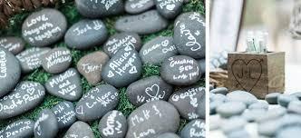 Wishing Rocks For Wedding Seattle Whimsical Vegan Garden Wedding