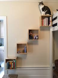 wall mounted cat stairs diy wall mounts turned cat ladder confessions about nothing
