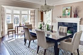 bay window curtains dining room contemporary with crown molding