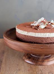 dark chocolate and white coffee mousse cake the little epicurean