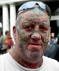 crazy guys with extreme full body tattoo design photos pictures