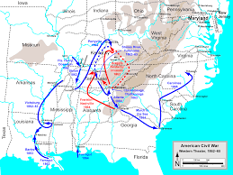 Map Of Usa During Civil War by Western Theater Of The American Civil War