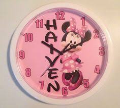 personalized minnie mouse wall clock on etsy 19 99 gift ideas