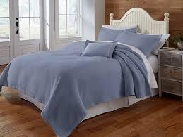 Blue Linen Bedding - traditions linens bedding blair linen coverlet u0026 shams