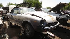 junked 1980 fiat 124 sport spider in denver junkyard photo gallery
