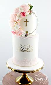 How To Decorate Christening Cake Best 25 Double Barrel Cake Ideas On Pinterest Cake With Flowers