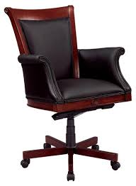 Leather Office Desk Dmi Executive Black Leather Desk Chair Wood Frame