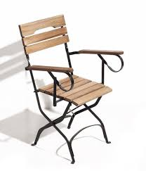 Folding Patio Chairs With Arms Folding Outdoor Chairs Metal And Acacia Wood Collapsible Outdoor