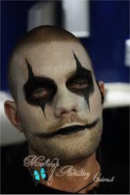 makeup and face painting crow makeup