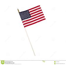 Single Flag Single American Flag On White Background Stock Image Image 41590435