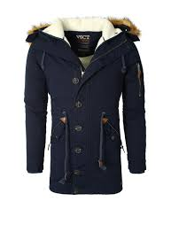 men vsct navy fur lined winter coat