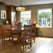 craftsman style flooring green craftsman large dining room with cherry floor stock photo