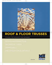 roof floor truss manual