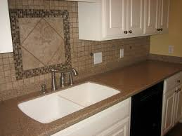 Backsplash Ideas Kitchen Kitchen Backsplash Ideas With Brown Tile Wall Decor And Double