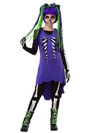 Skeleton Costume Halloween by Child Purple U0026 Green Skeleton Costume