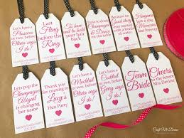 10 personalised favour tags hen party bridal shower hen do