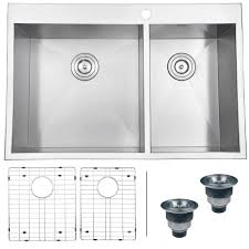 Ruvati RVH DropIn Overmount  Gauge  Kitchen Sink Double - Double kitchen sink