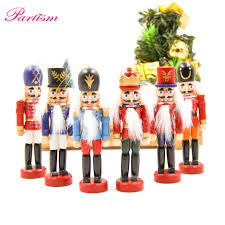online shop 6pcs 12cm wood made nutcracker puppet zakka creative