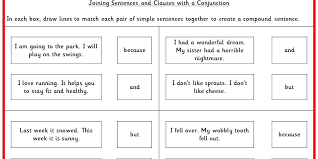 joining sentences and clauses with a conjunction ks2 spag test