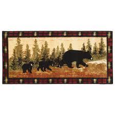 Bathroom Throw Rugs Rustic Moose U0026 Bear Bathroom Accessories