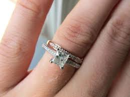white gold engagement ring with yellow gold wedding band gold wedding band engagement ring b white gold engagement