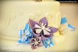 Origami Wedding Cake - origami flower kusudama weddingbee photo gallery