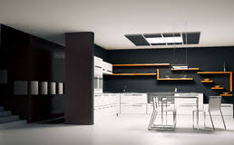 Modern Kitchen Interior Modern Kitchen Interior 3d Render Royalty Free Stock Image Image
